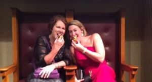 My pal and fellow RITA award nominee Alyssa Alexander and I did not win that evening, but the chocolate RITA statues they gave us were delicious!